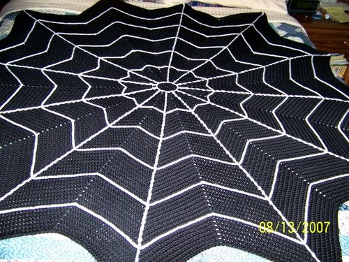 Spider Web Afghan Psychedelic Doilies